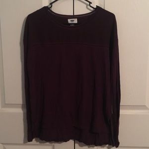 Old Navy plum top with details